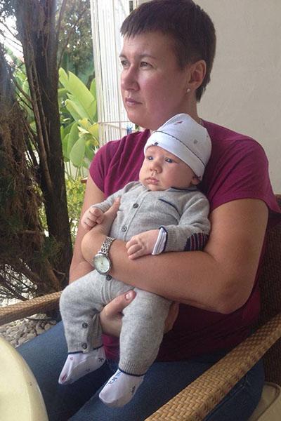 «Мы с Макаром ходим паром», - подписала снимок с сыном Андрея Мерзликина Наталья Мокрицкая
