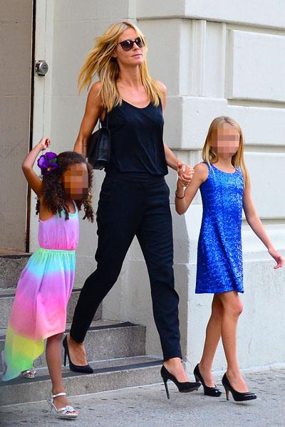 Супермодель с 10-летней Лени и 4,5-летней Лу