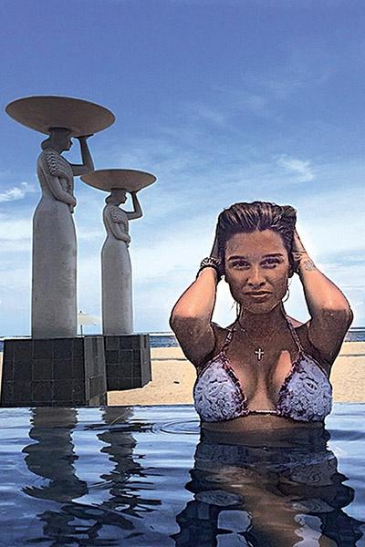 В шикарном отеле Mulia   Resort & Villas Ксения   устроила фотосессию