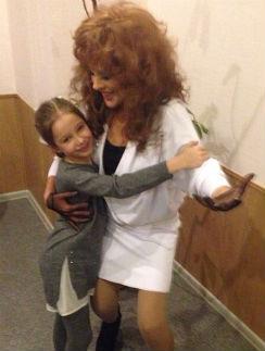 Юлия Началова с дочкой Верой