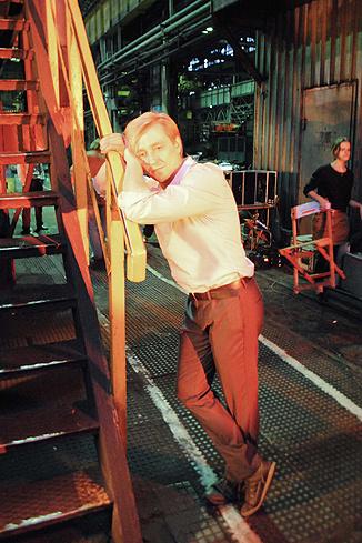 Сергей Безруков на съемках одного из эпизодов фильма в Санкт-Петербурге