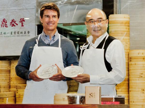 Том Круз с шеф-поваром ресторана