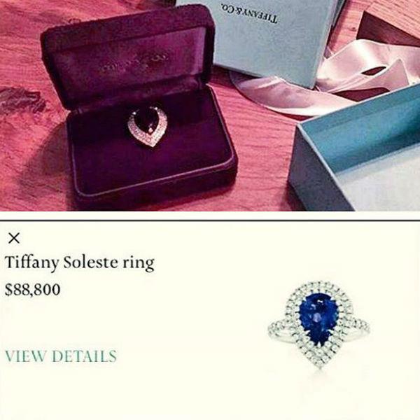 Такое кольцо преподнес Тима своей невесте