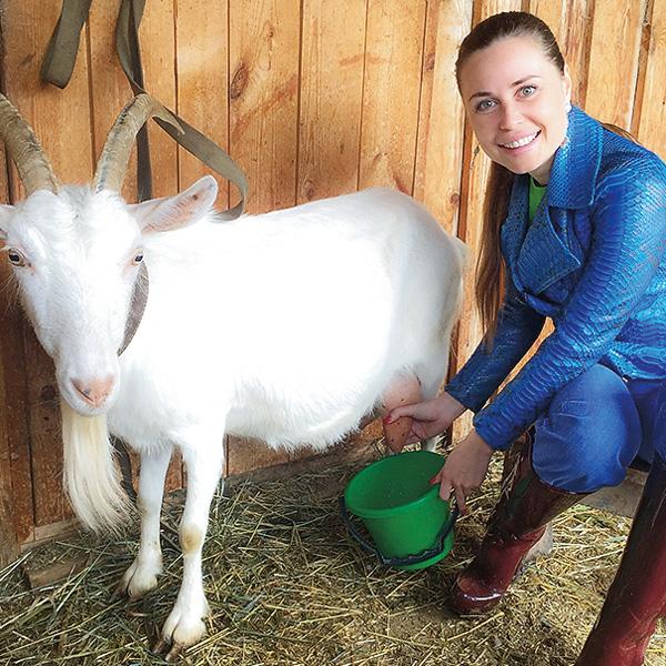 За время работы ведущей программы «Вкусные дела» Юля научилась ухаживать за животными