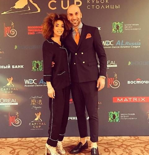 Евгений Папунаишвили со своей избранницей Салимой