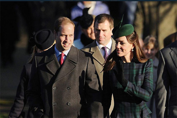 Принц Уильям и Кейт Миддлтон перед обрядом крещения принцессы Шарлотты