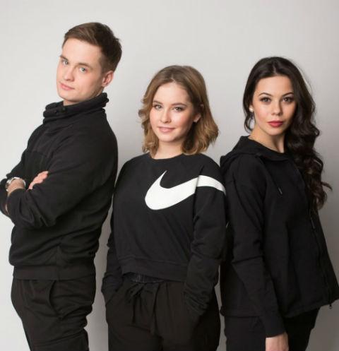 Максим Мирошкин, Юлия Липницкая и Елена Ильиных