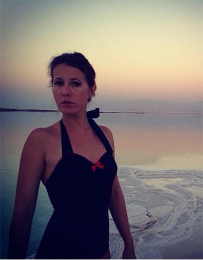 Ксения Собчак на Мертвом море