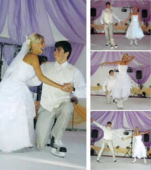 Первая свадьба Кристины с хоккеистом Сергеем Коньковым