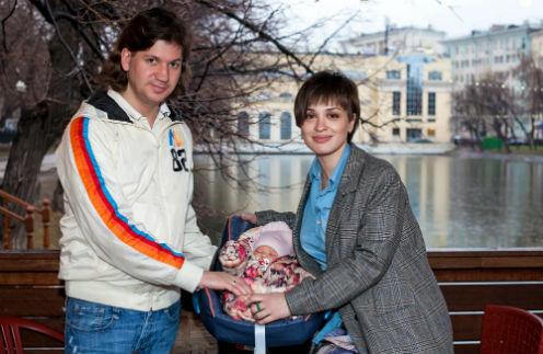 Ирина Муромцева с мужем Максимом Волковым и дочерью Александрой