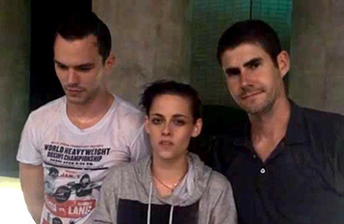 Николас, Кристен и Скотт после обливания