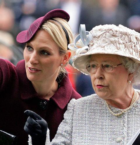 Зара Тиндолл и королева Елизавета II