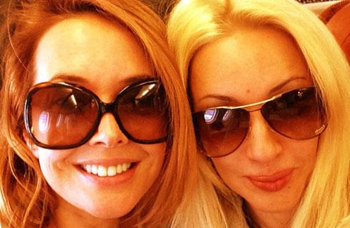Жанна Фриске и Лера Кудрявцева