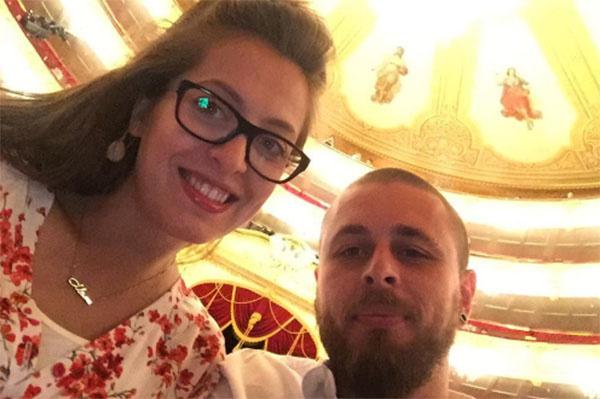 Анастасия и отец ее будущего малыша Александр