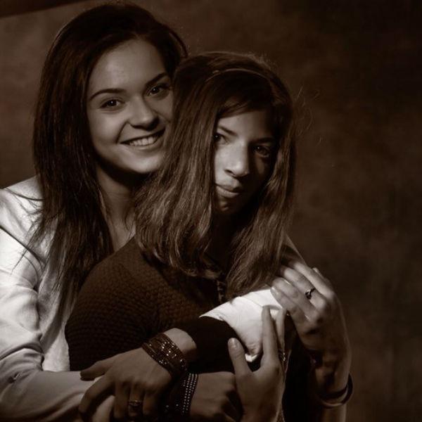 Фигуристка с любимой сестрой Марией