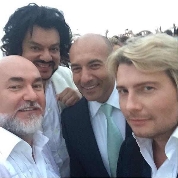 Сергей Кожевников, Филипп Киркоров, Игорь Крутой и Николай Басков