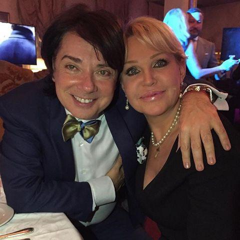 Валентин Юдашкин с Екатериной Добрыниной, матерью Петра Максакова