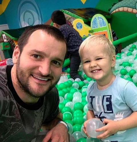 Алексей Самсонов с сыном Мироном