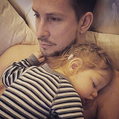 Александр Данко с дочерью Агатой