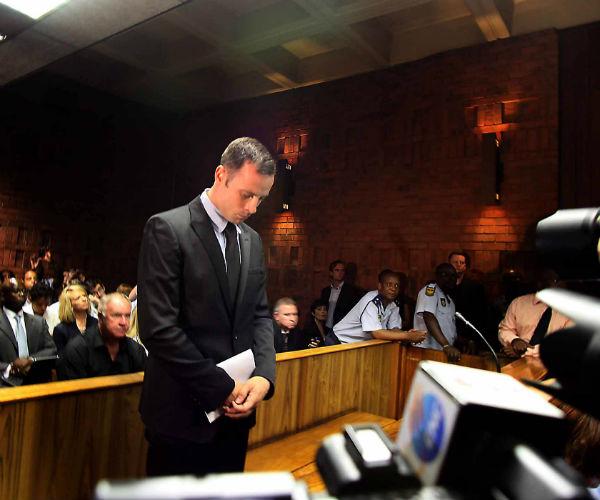 Оскар Писториус на заседании суда