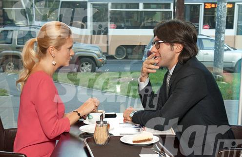 Андрей Малахов и Наталья Шкулева в StarHit cafe