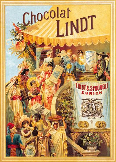 Старинный рекламный плакат
