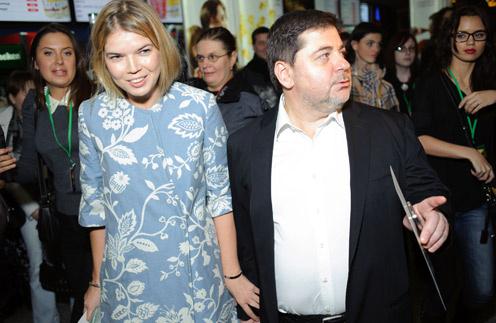 Виктория с мужем Александром Цекало в 2012 году