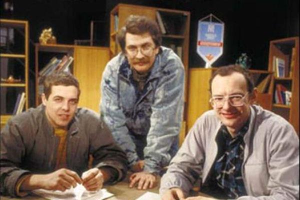 Александр Любимов, Владислав Листьев и Дмитрий Захаров - первые ведущие программы  «Взгляд»