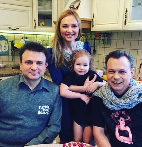 Тимур Кизяков с семьей Владимира Левкина