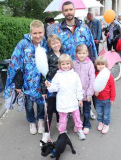 Владимир Кристовский с семьей в прошлом году