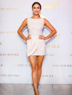 Ирина Шейк в платье из последней коллекции LOVE REPUBLIC