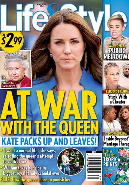 Кейт встала на тропу войны с королевой