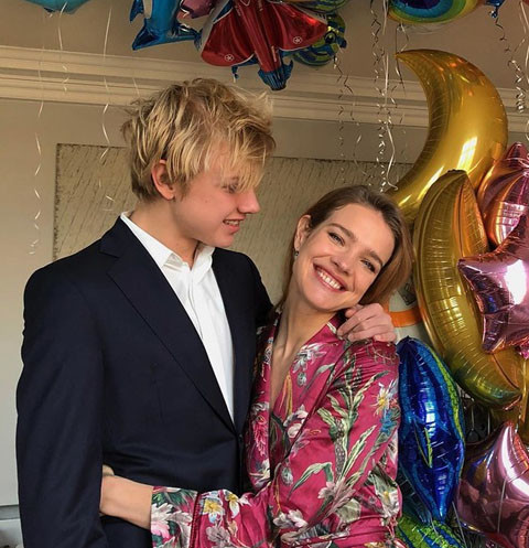Наталья Водянова с сыном Лукасом