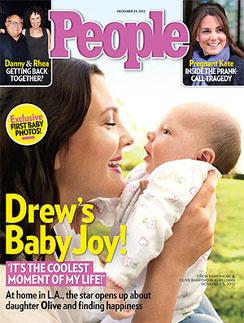 Обложка журнала People с Дрю Бэрримор и Олив