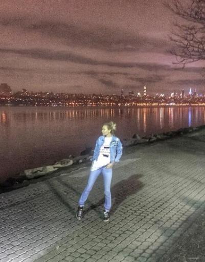 Вечерний вид на город