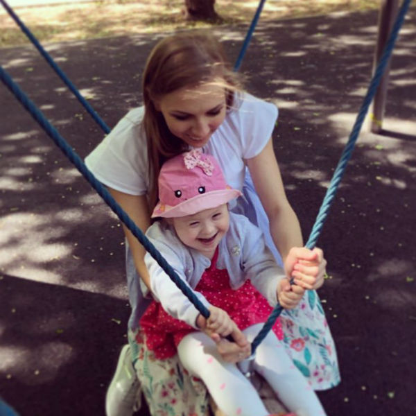 Светлана вместе с дочкой
