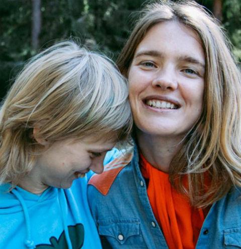 Наталья Водянова и ее сестра Оксана