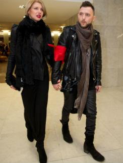 Рома Зверь с женой