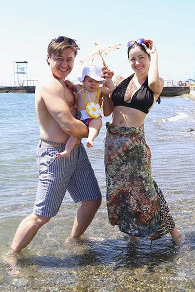 Свободное время актриса проводит вместе с семьей