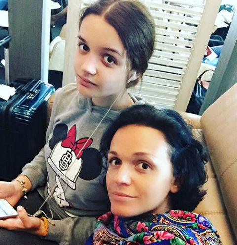 Слава и ее дочь Александра