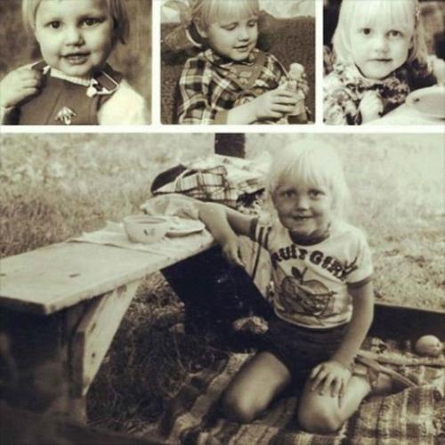 В микроблоге Малиновская опубликовала свои детские фото