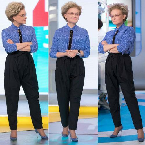 Елена Малышева начала носить брюки