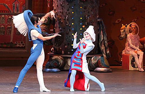 Сцена из балета «Мойдодыр»  с участием Анастасии Винокур