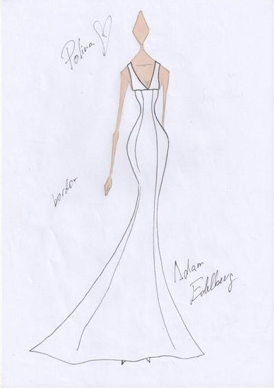 Платье совершенно точно будет строгим и без излишеств