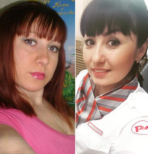 Люция Тулигенова и Екатерина Туганова