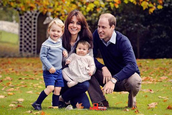 Кэтрин и Уильям с детьми