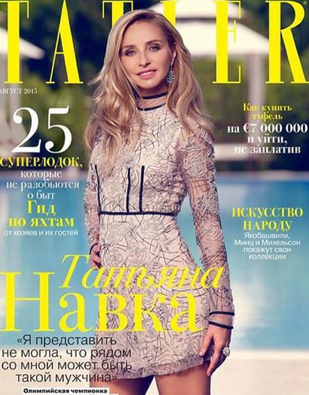 Татьяна Навка на обложке журнала Tatler