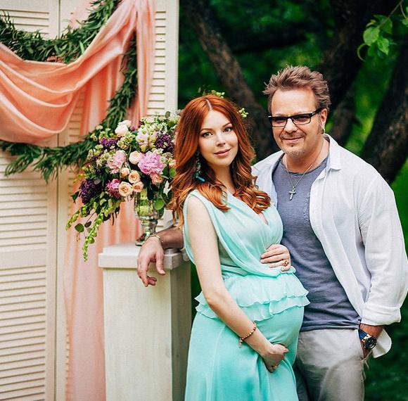 Кадр из фотосессии, сделанной незадолго до родов