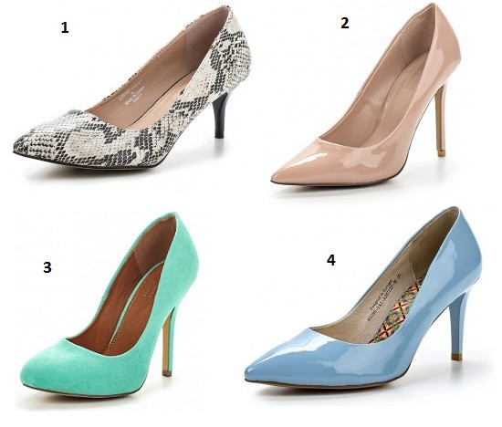 1. Dorothy Perkins 2. Top Shop 3. Spurr 4. Sinta