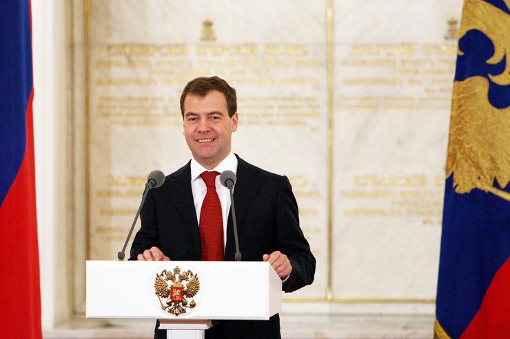 На четыре года Медведев возглавил страну